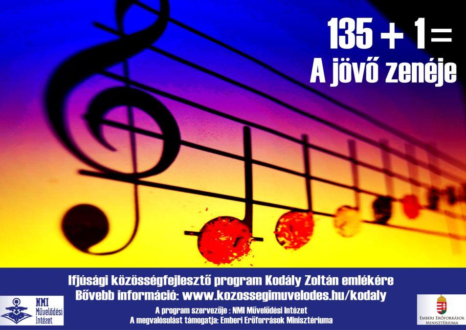 135+1= A jövő zenéje Ifjúsági közösségfejlesztő program Kodály Zoltán emlékére